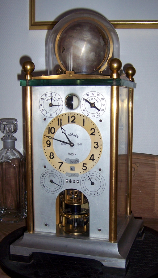 Photo of the front side of clock No. 1